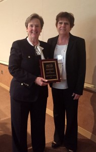 Rita Trofina presented Paula Milone Nuzzo with the Distinguished Colleague Award